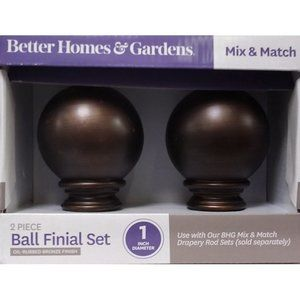 "1"" Oil-Rubbed Bronze Finish Ball Finial Set"